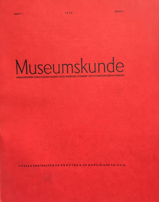 Cover MuKu 1929 (Titel Museumskunde 1929, Band 1)