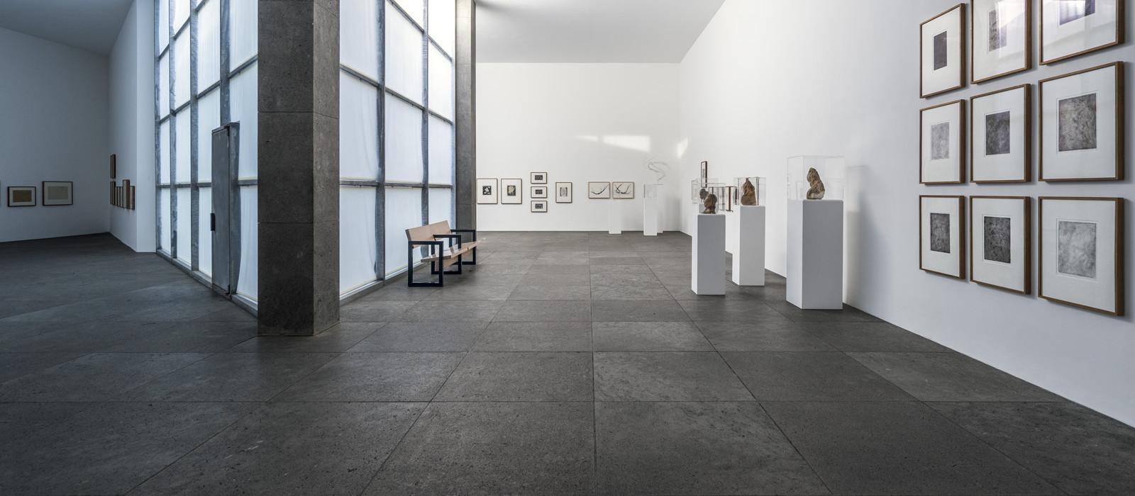 Blick in einen Ausstellungsraum der Stiftung Insel Hombroich