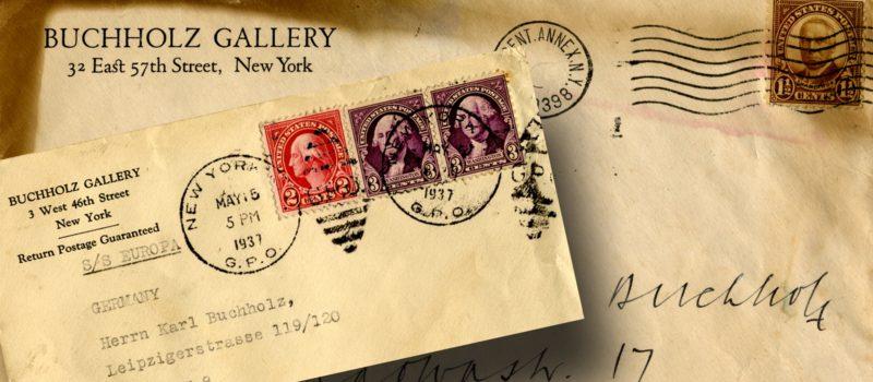 Briefe aus dem Nachlass von Karl Buchholz, hier ein Briefumschlag