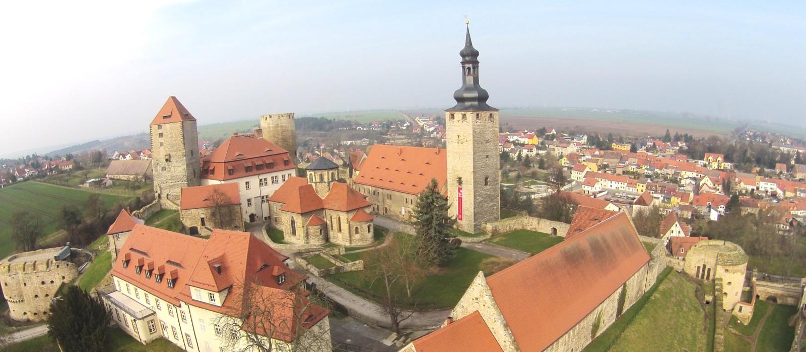 Luftbild der Burg