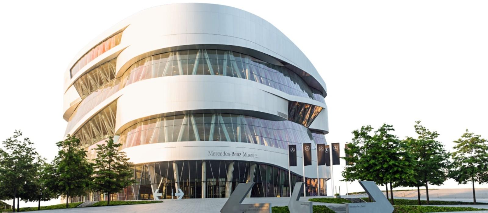 Außenansicht Mercedes-Benz Museum