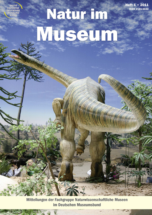 Titelbild: Natur im Museum 2011. Diorama mit Dinonsaurier