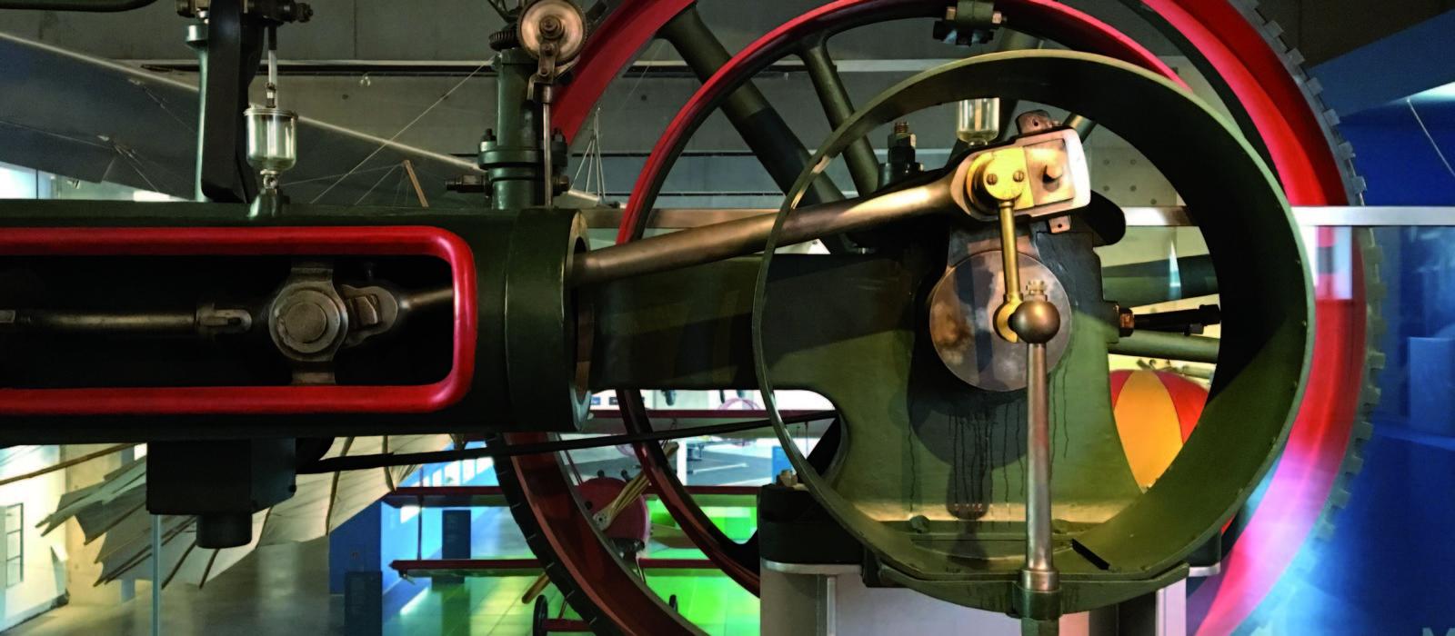Dampfmaschine im phanTECHNIKUM - Technisches Landesmuseum Mecklenburg-Vorpommern in Wismar