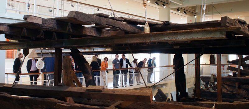 Die Fachgruppe erkundet das Deutsche Schifffahrtsmuseum