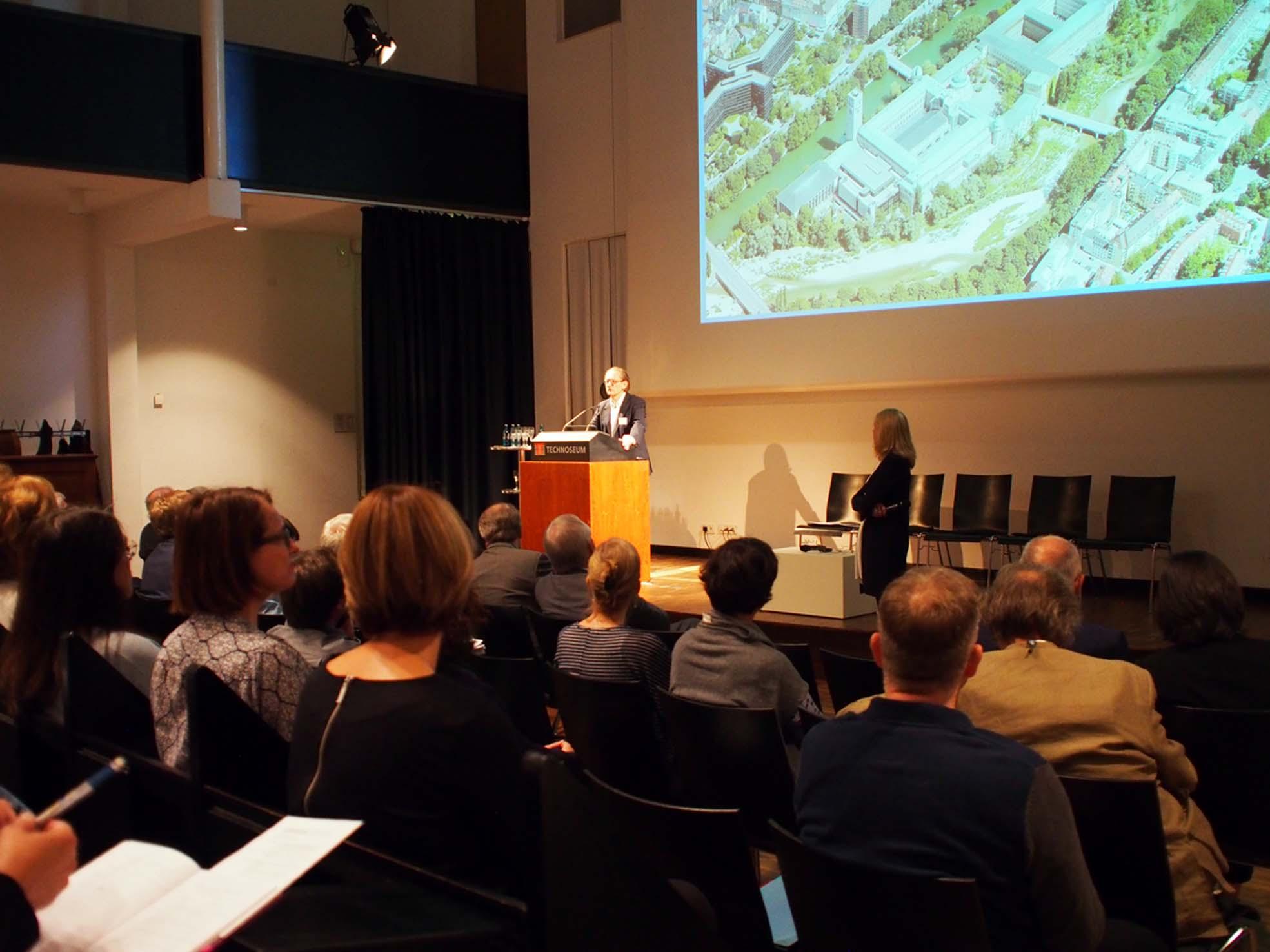 Im Auditorium des Technoseum in Mannheim