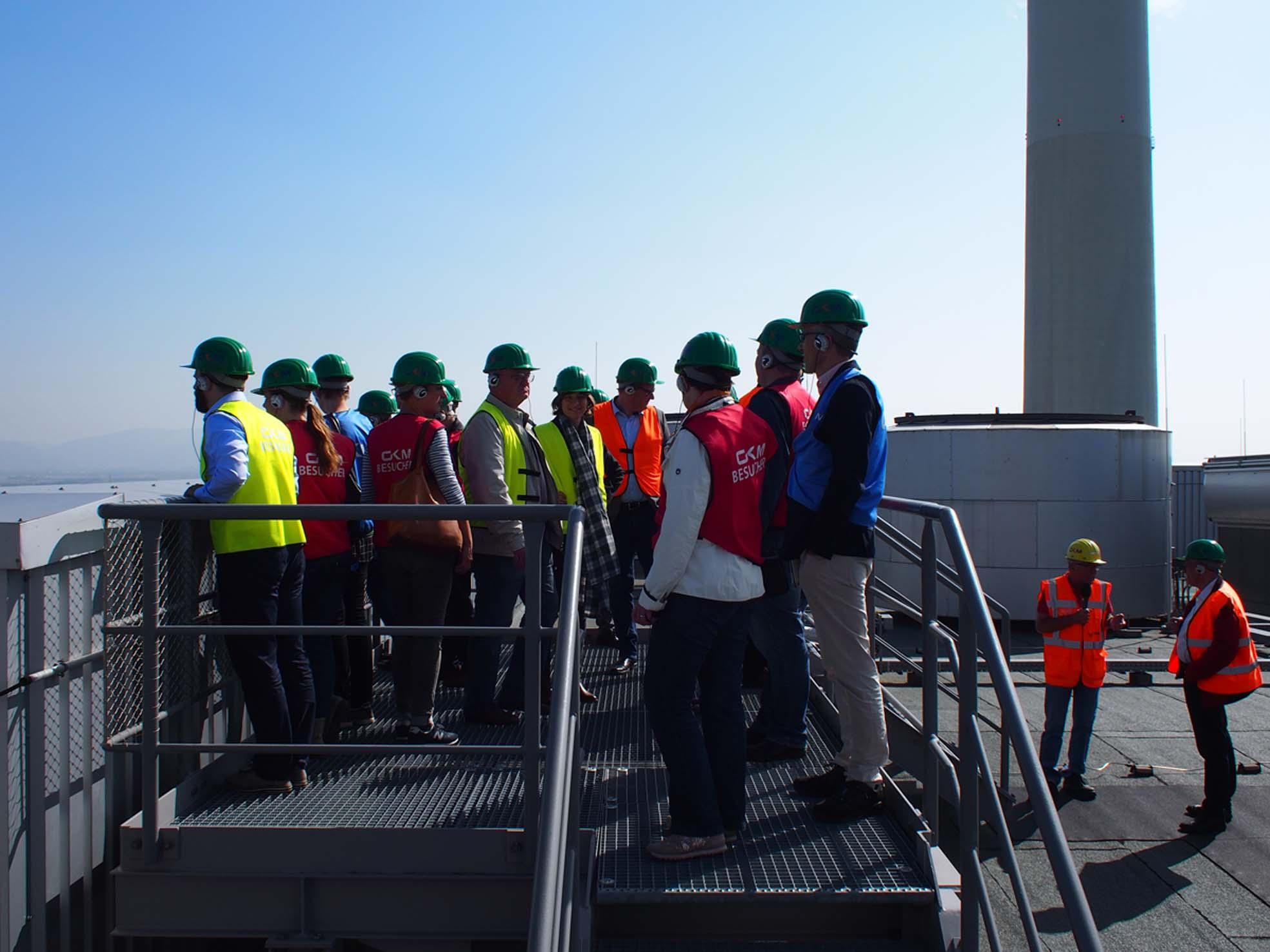 Auf dem Dach des Großkraftwerks Mannheim