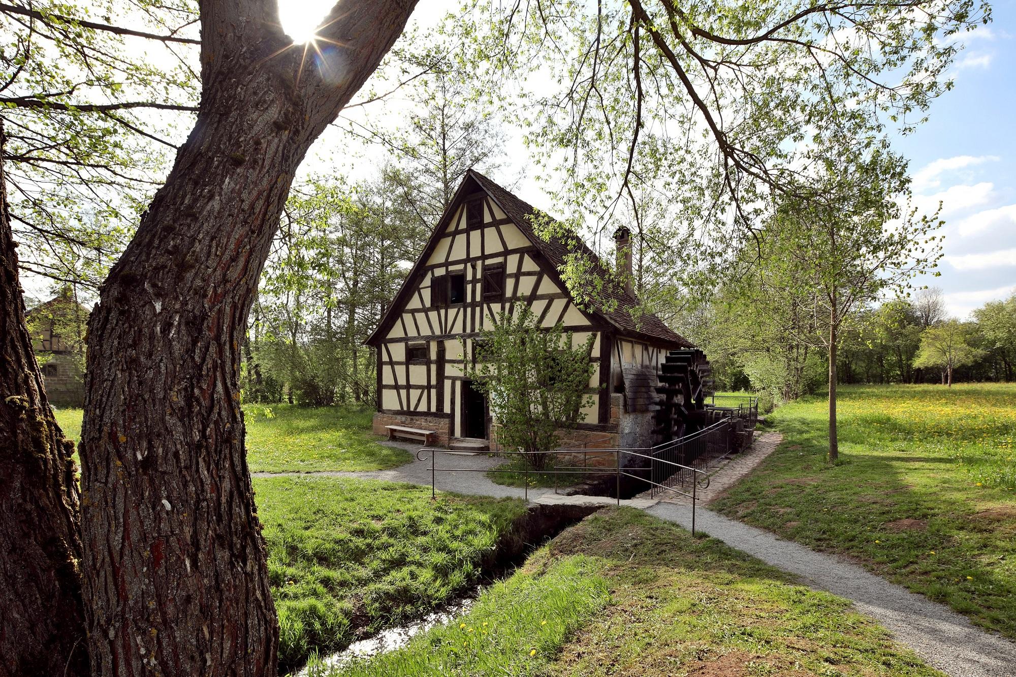 Wassermühle im Freilichtmuseum Fladungen