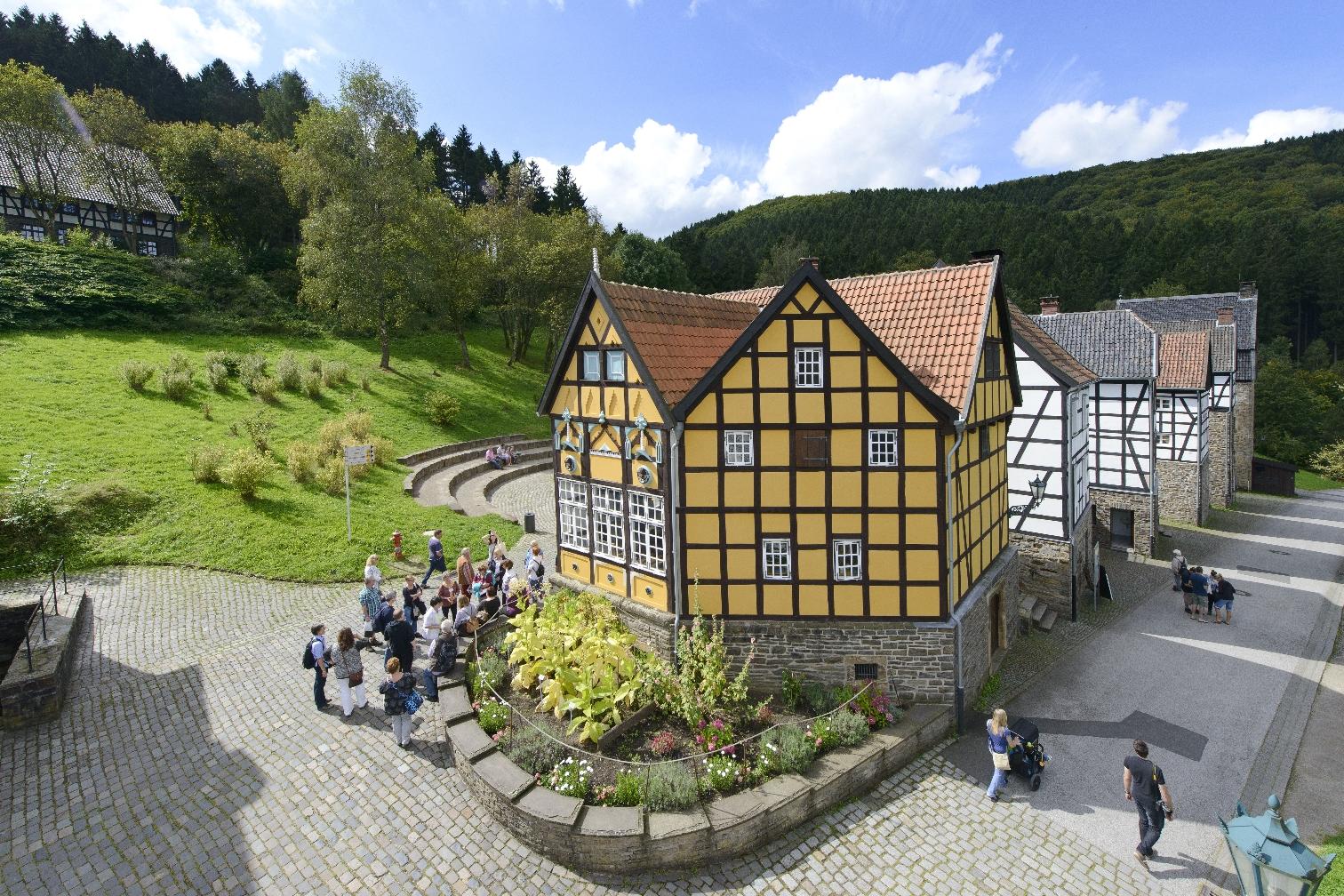 Mehrgeschossiges Fachwerkhaus im Freilichtmuseum Hagen